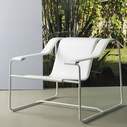 Luxo by Modloft Frederick Leather Lounge Chair