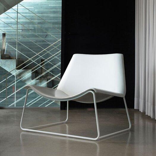 Luxo by Modloft Earl Leather Lounge Chair