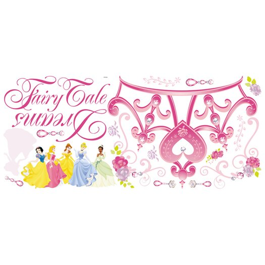 Room Mates Deco Disney Princess Crown Giant Wall Decal Set