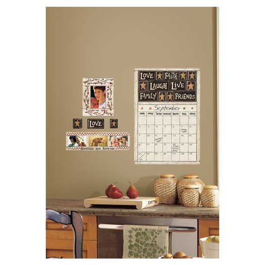 Room Mates 10 Piece Peel & Stick Giant Wall Decals/Wall Stickers Family and Friends Dry Erase Calendar Wall Decal Set