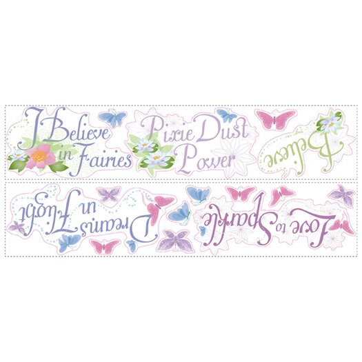 Room Mates Licensed Designs Disney Fairies Phrases Wall Decal