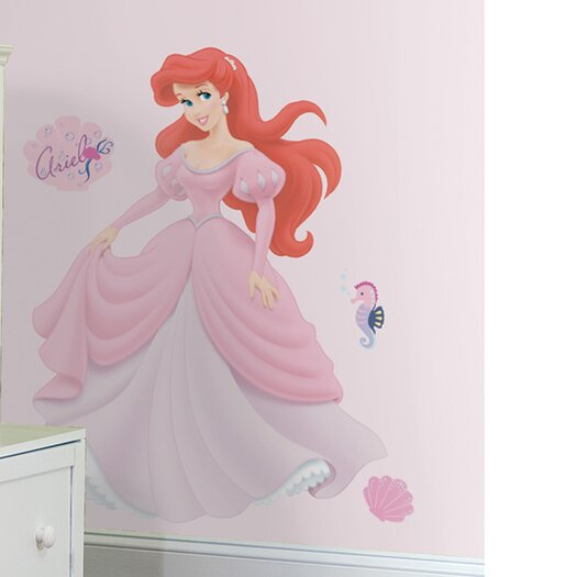 Room Mates Licensed Designs 35 Piece Ariel Giant Wall Decal Set