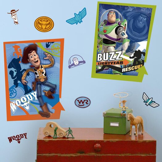 Room Mates Licensed Designs Buzz and Woody Wall Decal