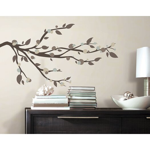 Room Mates 33 Piece Deco Mod Branch Peel and Stick Wall Decal Set