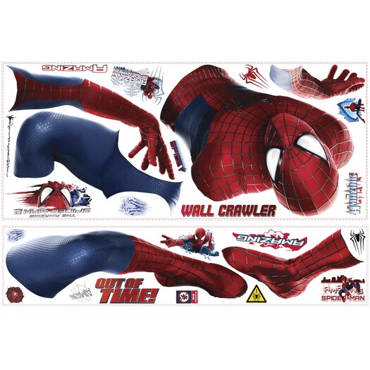 Room Mates 26 Piece Marvel The Amazing Spider-Man 2 Peel and Stick Giant Wall Decal Set