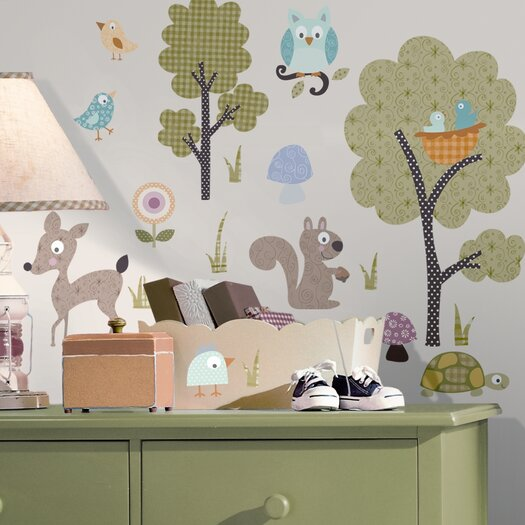 Room Mates Studio Designs Woodland Animals Wall Decal Set