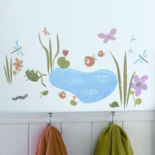 Room Mates Studio Designs 40 Piece Hoppy Pond Wall Decal Set