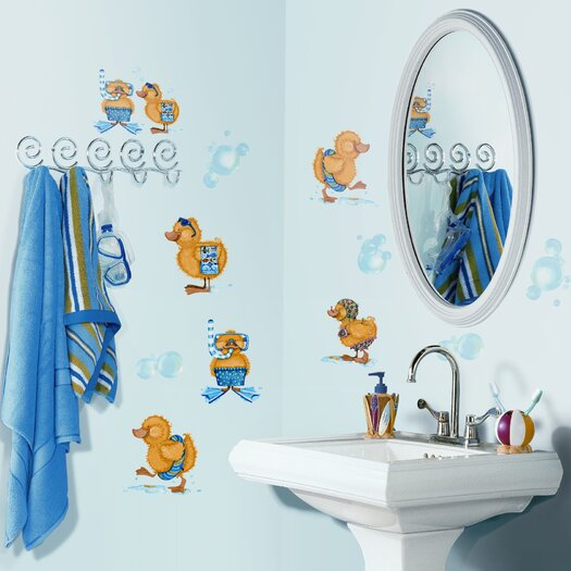 Room Mates Studio Designs 29 Piece Bubble Bath Wall Decal Set