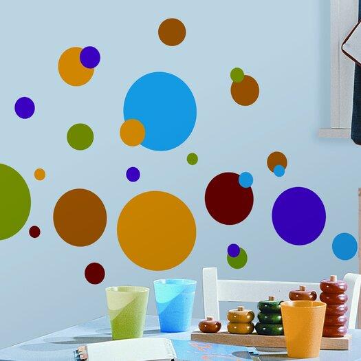 Room Mates Studio Designs 31 Piece Just Dots Wall Decal Set