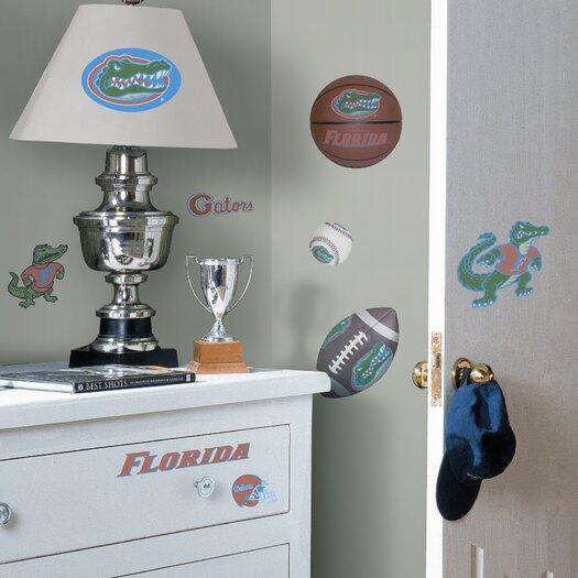 Room Mates Collegiate Sports 23 Piece Appliqué Florida Gators Wall Decal Set