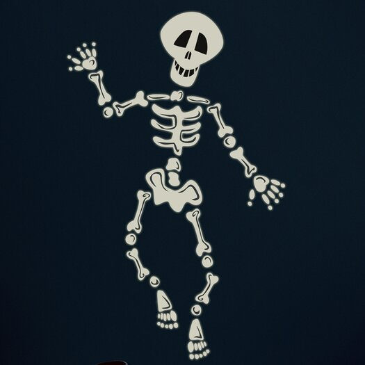 Room Mates Seasonal 37 Piece Build Your Own Skeleton Wall Decal Set