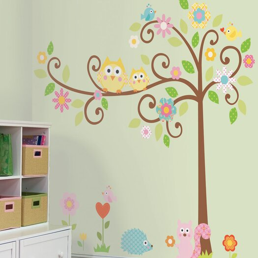 Room Mates Megapacks Scroll Tree Wall Decal Set