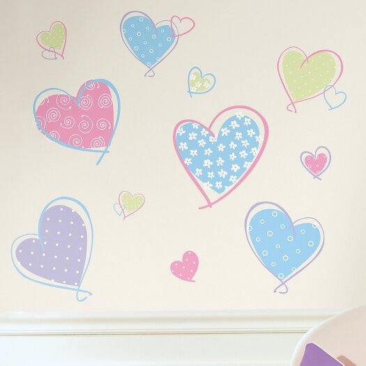 Room Mates Studio Designs Hearts Wall Decal