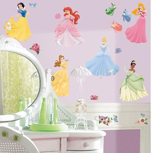 Room Mates 37 Piece Licensed Designs Disney Princess Wall Decal