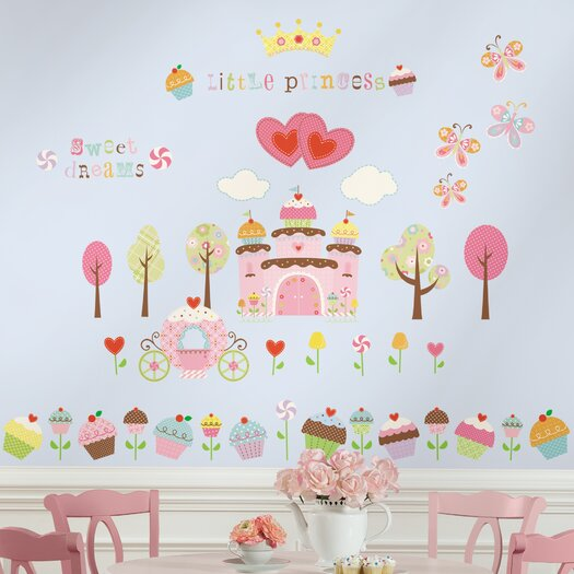 Room Mates Room Mates Deco 56-Piece Happi Cupcake Wall Decal