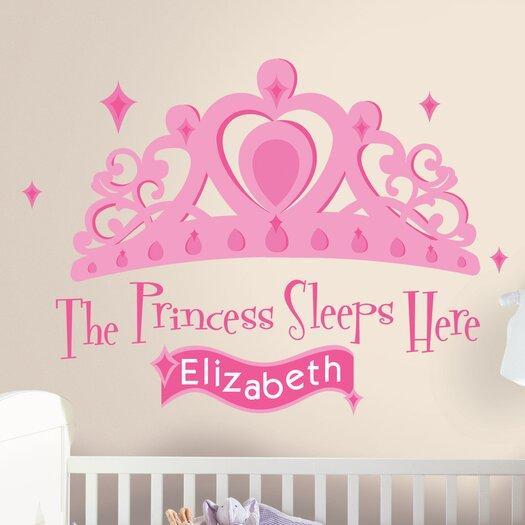 Room Mates 131 Piece Princess Sleeps Here Giant Wall Decal