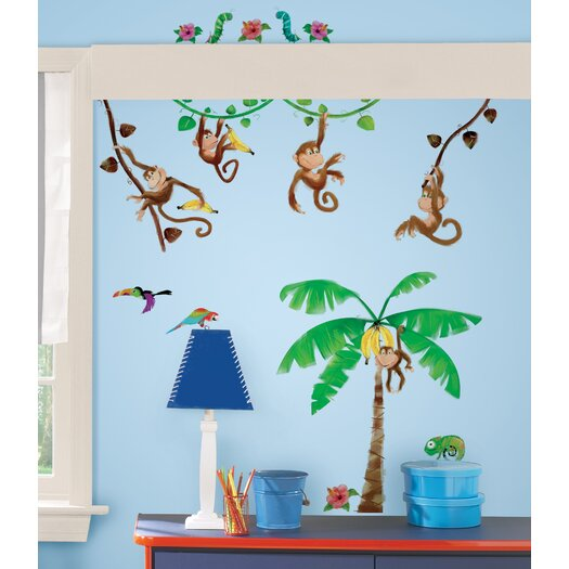Room Mates Monkey Business Wall Decal
