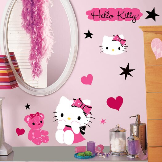 Room Mates Hello Kitty Couture Wall Decal Set