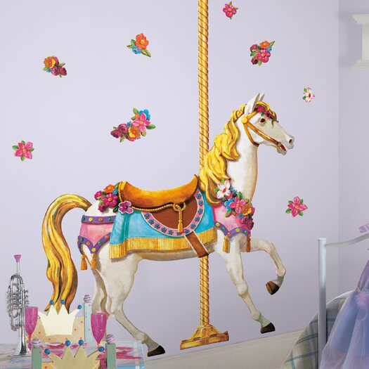 Room Mates Giant Carousel Wall Decal