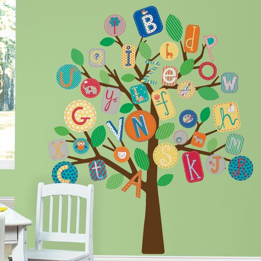 Room Mates ABC Tree Giant Wall Decal