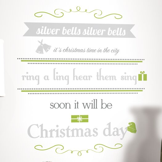 Room Mates 17 Piece Peel & Stick Wall Decals/Wall Stickers Bells Quote Wall Decal Set