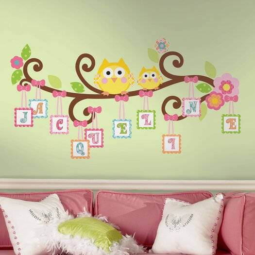 Room Mates Giant Happi Scroll Tree Letter Branch Wall Decal Set