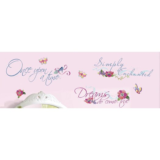 Room Mates Licensed Designs Princess Quotes Wall Decal