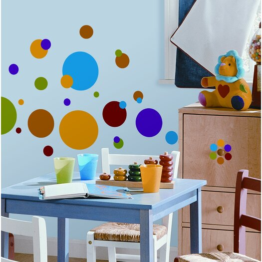 Room Mates Studio Designs 31 Piece Just Dots Wall Decal Set