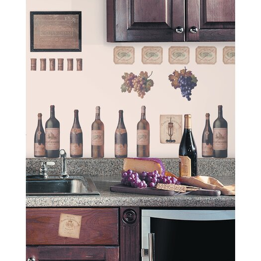 Room Mates Room Mates 56 Piece Deco Wine Tasting Wall Decal Set
