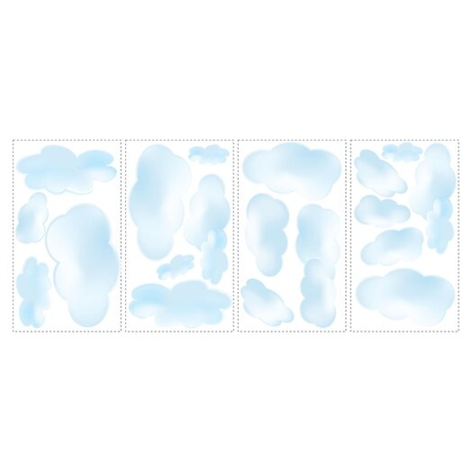 Room Mates Studio Designs 19 Piece Clouds Wall Decal Set