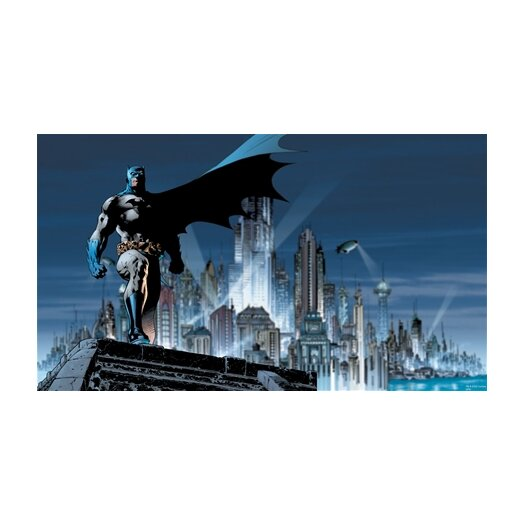 Room Mates Surestrip Batman Chair Rail Prepasted Wall Mural