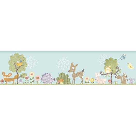 Room Mates Studio Designs Woodland Animals Wallpaper Border