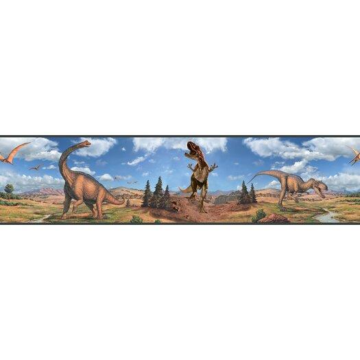 Room Mates Studio Designs Dinosaur Peel and Stick Wallpaper Border