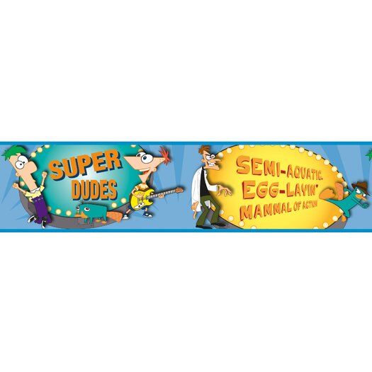 Room Mates Phineas and Ferb Wallpaper Border