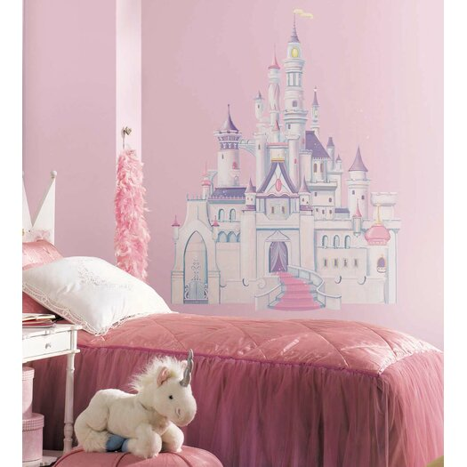 Room Mates Licensed Designs Disney Princess Castle Wall Decal Set