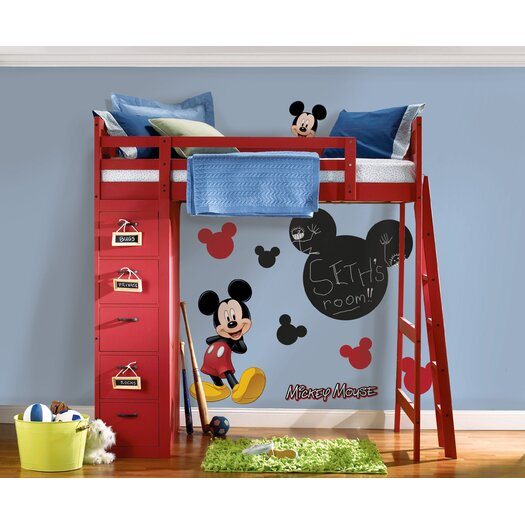 Room Mates Licensed Designs Mickey Chalkboard Wall Decal