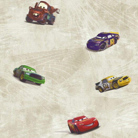 Room Mates Cars Racing Wallpaper