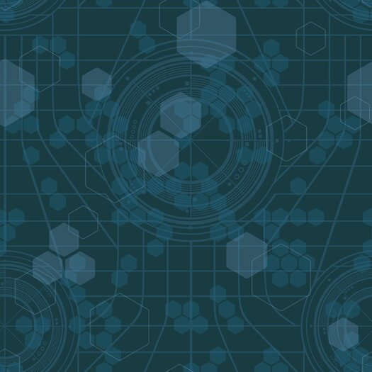 Room Mates Tron Legacy Hexagon Wallpaper