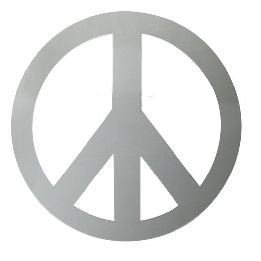 Room Mates Peace Sign Peel and Stick Wall Decal