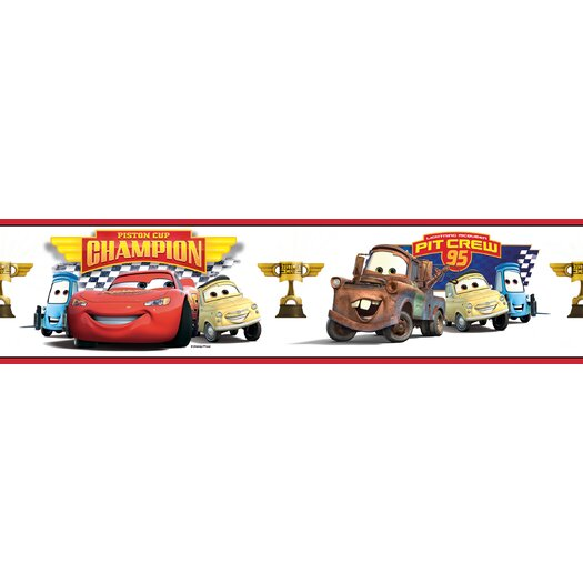 Room Mates Cars Piston Cup Champion Peel and Stick Wallpaper Border