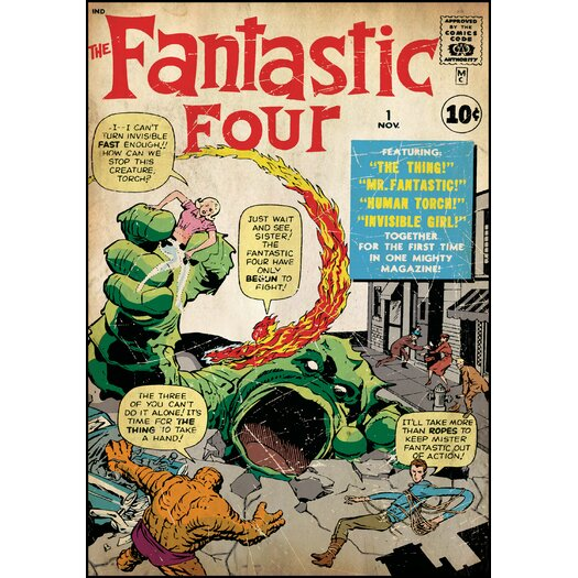 Room Mates Fantastic Four Comic Cover Wall Decal