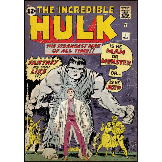 Room Mates Hulk No. 1 Comic Book Cover Wall Decal