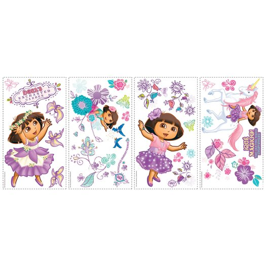 Room Mates Nickelodeon Dora The Explorer Enchanted Forest Adventures Wall Decal