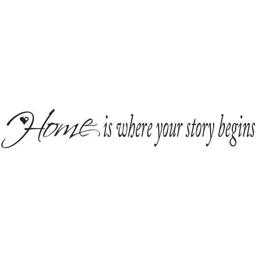 Room Mates Home is Where Your Story Begins Wall Decal