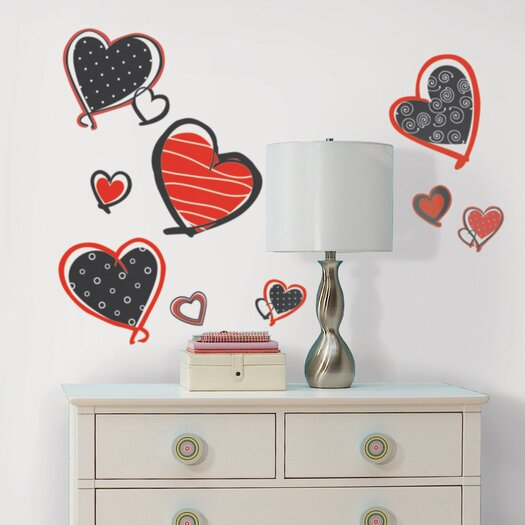 Room Mates Mod Heart Wall Decal