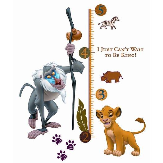 Room Mates 27 Piece Lion King Rafiki Giant Growth Chart Set