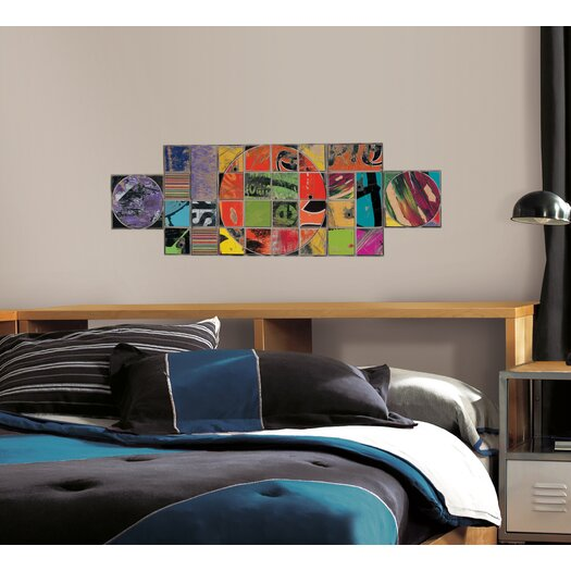 Room Mates Art of Board Circle Inside Square Giant Wall Decal
