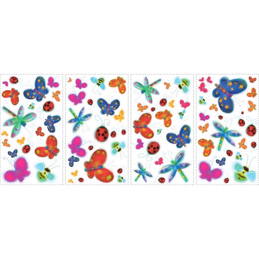 Room Mates Studio Designs 51 Piece Jelly Bugs Wall Decal Set