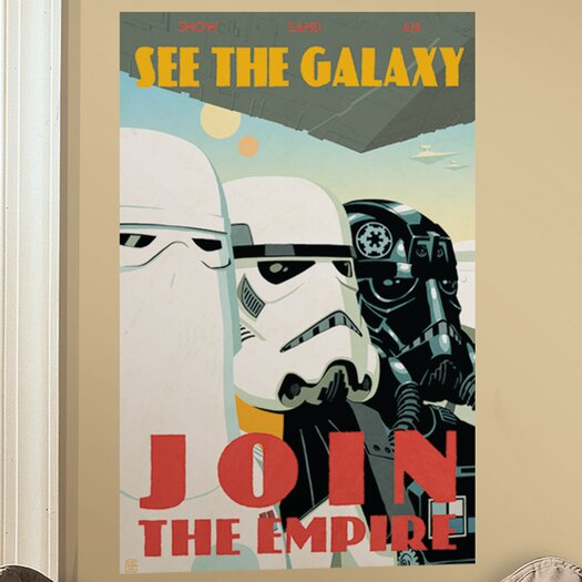 Room Mates Peel & Stick Giant Wall Decals/Wall Stickers Star Wars Classic Join The Empire Wall Decal