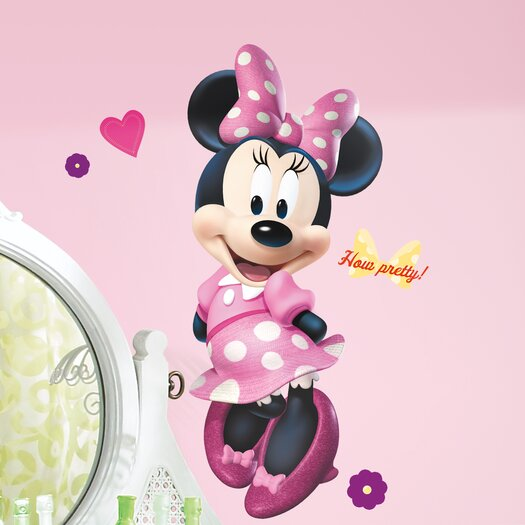 Room Mates Mickey and Friends Minnie Bowtique Giant Wall Decal Set